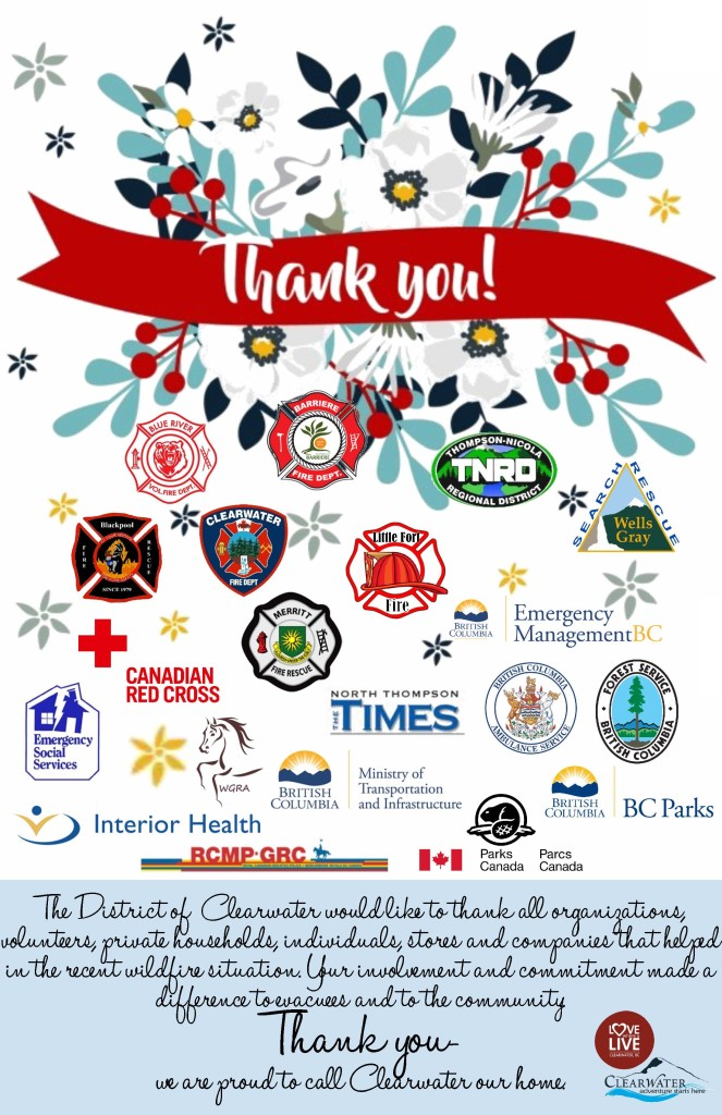 Thank you Wildfires 2017